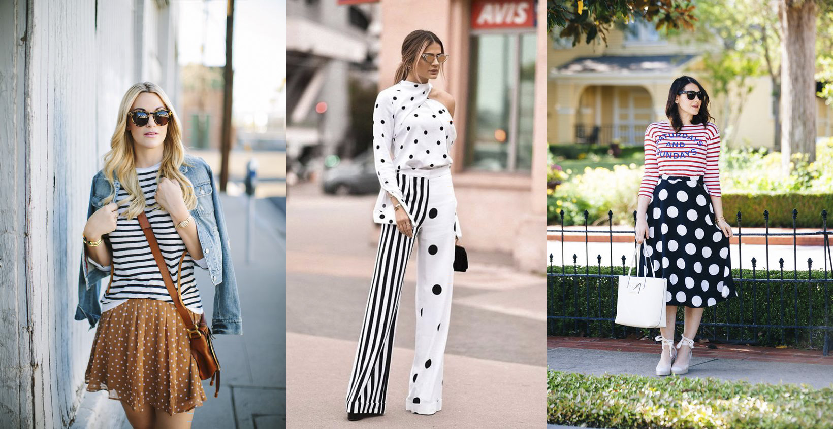 dots and stripes outfits